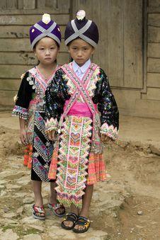 Laos Hmong Girl Stock Images