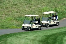 Free Two Golf Carts Royalty Free Stock Image - 6257226