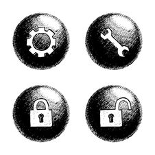 Free Sketchy Orb Button Stock Images - 6257264