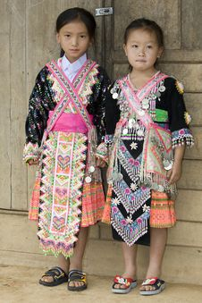 Laos Hmong Girl Royalty Free Stock Photos