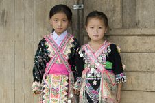Laos Hmong Girl Stock Images