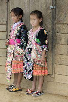 Free Laos Hmong Girl Stock Photo - 6257290