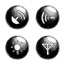 Free Sketchy Orb Button Royalty Free Stock Photos - 6257518