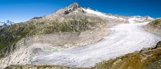 Panorama View Of Rhone Glacier, Alps  Switzerland Royalty Free Stock Photography