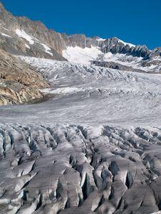 Free View Of Ice And Edge Of Rhone Glacier, Switzerland Stock Photo - 6257740