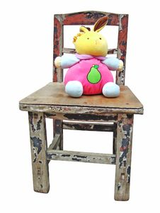 Free Rabbit Doll And Wooden Stool Royalty Free Stock Photos - 6257898