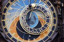 Free Astronomical Clock. Royalty Free Stock Image - 6258236