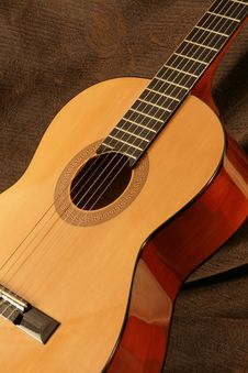 Classical Guitar Detail Stock Images