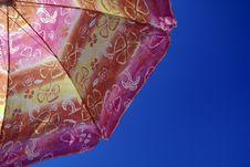 Free Sunny Umbrella And The Sky Royalty Free Stock Image - 6259126