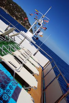 Free Sunbed On Board Stock Photos - 6259293