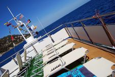 Sunbed On Board Royalty Free Stock Photos