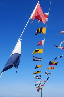 Flags On Board Stock Images