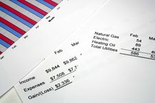 Personal Financial Data Royalty Free Stock Photo