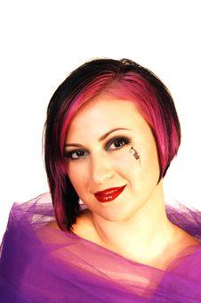Free Headshot Of An Beautiful Woman. Stock Photos - 6259633