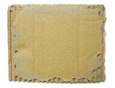 Old Cardboard Scrap Stock Image