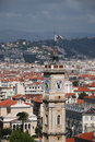 Free Cityscape Of Nice With Flag On Tower Stock Image - 6261881
