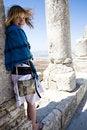 Free Girl Ang Old Ruins Royalty Free Stock Photography - 6262327