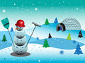 Free Snowman With Red Hat Stock Images - 6263314