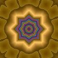 Free Golden Rainbow Star Compass Royalty Free Stock Photo - 6269055