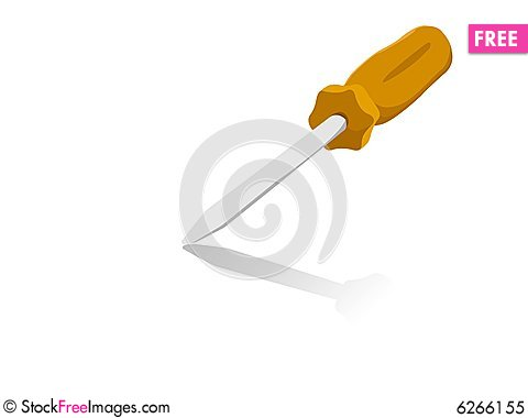 Free Screw Driver Royalty Free Stock Photo - 6266155