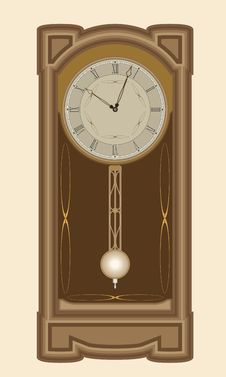 Free Clock With Pendulum Royalty Free Stock Image - 6260016