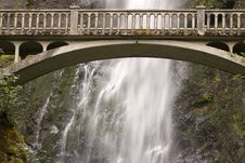 Free Waterfall With Arched Bridge Stock Photography - 6260332