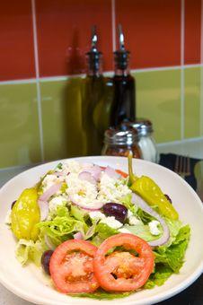 Free Fresh Greek Salad Stock Photo - 6260390
