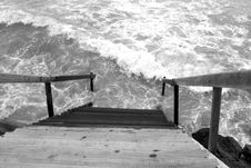 Stairway To The Ocean Royalty Free Stock Image
