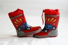 Red Wellington Boots Royalty Free Stock Photo