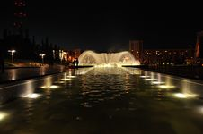 Night Fountain Royalty Free Stock Image