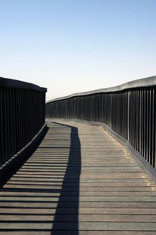Curving Pier Royalty Free Stock Photos