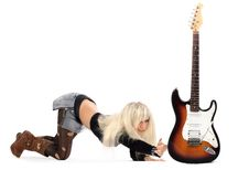 Free Girl With Guitar Royalty Free Stock Photo - 6263175