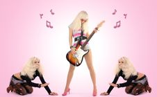 Free Girl With Guitar Royalty Free Stock Images - 6263199