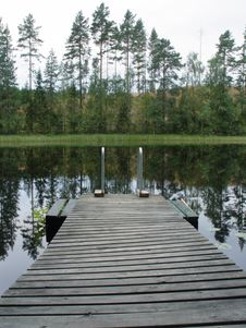 Free Dock In A Lake - Detail Royalty Free Stock Photos - 6263688