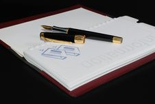 Pen On Diary Book Royalty Free Stock Images