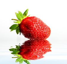 Free Strawberry In Water Royalty Free Stock Photography - 6265127