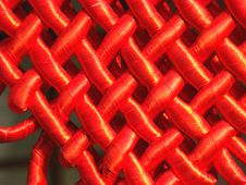 Free Red Satiny Tape Stock Photography - 6265332