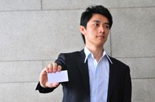 Free Asian Man With Namecard 13 Royalty Free Stock Image - 6265666