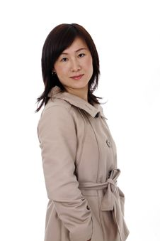 Free Asian (Chinese) Businesswoman With Coat Royalty Free Stock Photography - 6265877