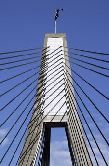 Anzac Bridge, Sydney, Australia Royalty Free Stock Image