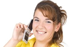 Free Girl Talking On The Phone Stock Photos - 6265953