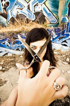 Free Threatening Woman Stock Photos - 6266813
