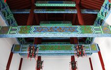 Chinese Elements - Color Roof Royalty Free Stock Photography