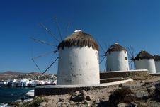 Free Windmill Of Mikonos Royalty Free Stock Photos - 6267388