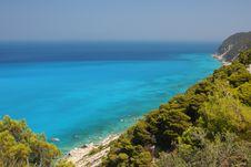 Lefkada Island Coast Royalty Free Stock Photos
