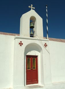 Church In The Greek Island Of Mykonos Royalty Free Stock Images
