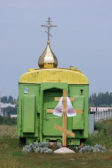 Free Russian Orthodox Church In The Railway Wagon Stock Image - 6267641