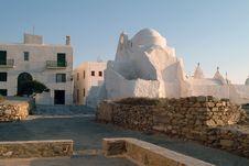 Church In The Greek Island Of Mykonos Stock Photos