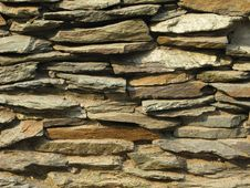 Free Rustic Stone Wall Background Royalty Free Stock Images - 6267779