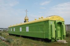 Free Russian Orthodox Church In The Railway Wagon Royalty Free Stock Images - 6267939